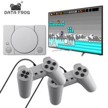 데이터 개구리 620 레트로 게임 비디오 콘솔 듀얼 게임 패드 8 비트 지원 AV 출력 가족 TV 비디오 게임 콘솔 넣어