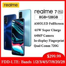 Realme teléfono inteligente 7 Pro, versión Global, NFC, 6,4 pantalla Super AMOLED, 65W, carga rápida, cámara cuádruple ia de 64MP