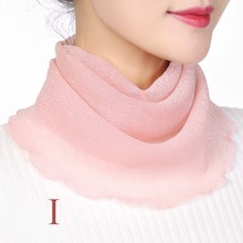 Summer Scarf Masks Neck-Cover Hanging-Ear Breathable Women Headband Veil Bright-Silk