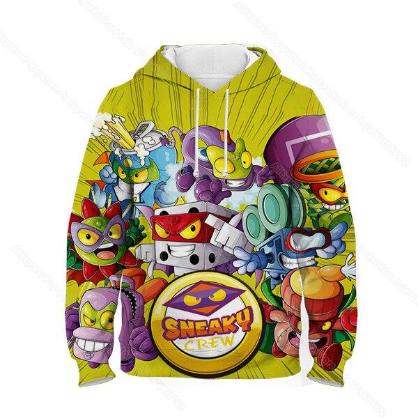 Kids 3D Print Super Zings Hoodie Autumn Winter Children Superzings 6 Series Sweatshirt Sudadera Boy Girl Cartoon Anime Pullover 33