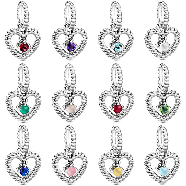 $ US $11.96 2019 New 100% 925 Sterling Silver Pre-Valentines 2020 My True Colours Birthstone Collection Pendant Fit Diy Original Bracelet