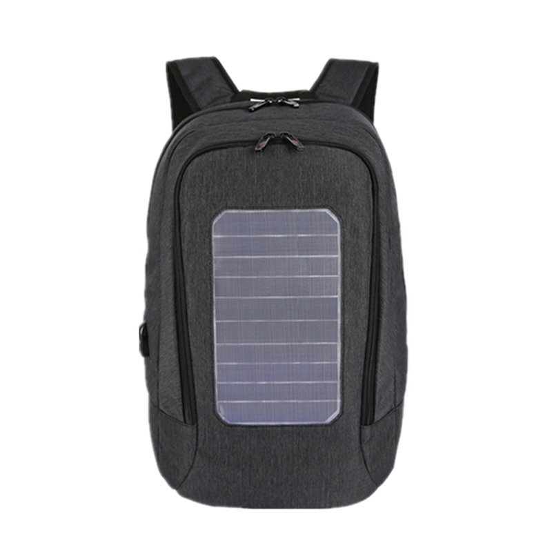 JHD-Solar Backpack Men and Women Charging Casual Outdoor Bag USB Charger Emergency Backpack