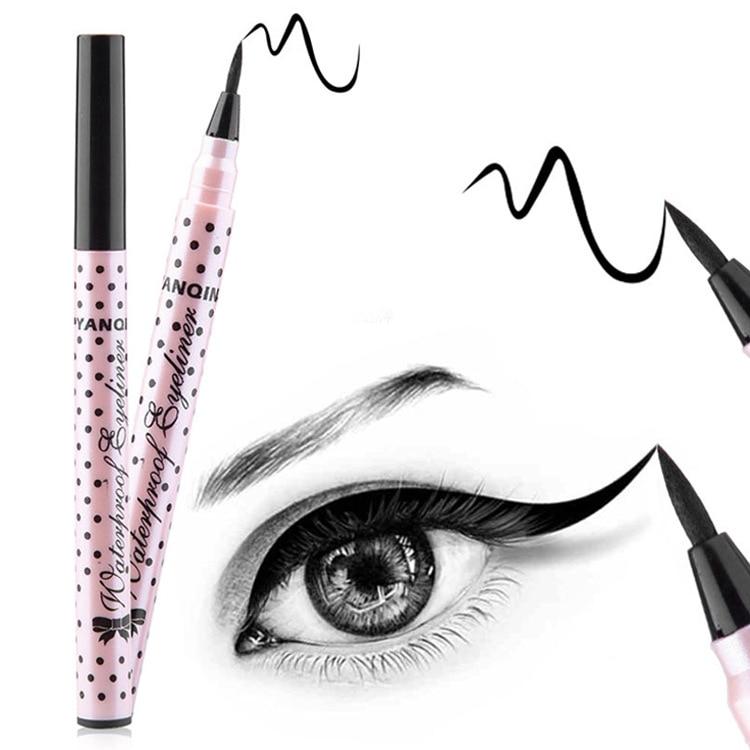 Yanqina Yeon Qi Na Waterproof Eyeliner Not Smudge Hard Head 8621 Powder Tube Polka Dot Liquid Eyeliner Makeup