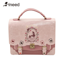 ALNEED Japan Bag Lolita Style Women Lady Girls Alice in Wonderland Designer Embroidery Backpack School