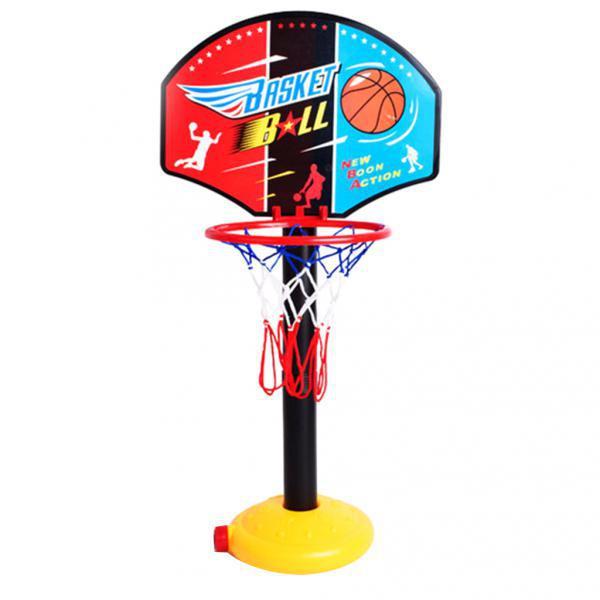 2x Portable Kids Basketball Stand Set Basket Hoop Backboard Net With Ball Pump