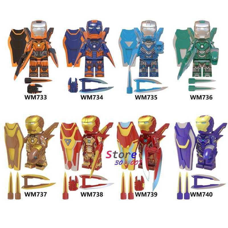 เดี่ยว Avengers Endgame Iron Man กัปตันอเมริกา IRONMAN ANTMAN Black Panther Thor hawkeye Thanos MK85 อาคารบล็อกของเล่นเด็ก