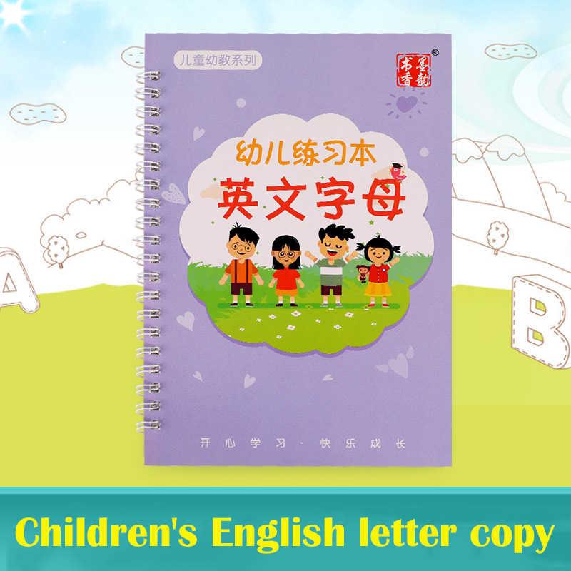 Có Thể Tái Sử Dụng Bảng Chữ Cái Tiếng Anh Copybook Đồ Chơi Vẽ Tay Viết Rãnh Tự Động Làm Mờ Đồ Chơi Giáo Dục Cho Trẻ Em Kid Trường Supplise