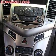 Controle Systeem Ontsteking Panel Auto Chroom Decoratieve Auto Styling Sticker Strip 09 10 11 12 13 14 15 Voor Chevrolet cruze(China)