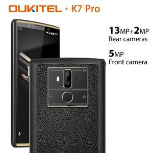 Image 2 - هاتف ذكي OUKITEL K7 Pro يعمل بنظام الأندرويد 9.0 مع خاصية بصمة الإصبع بقدرة 10000 مللي أمبير في الساعة هاتف محمول 9 فولت/2 أمبير MT6763 ثماني النواة ذاكرة وصول عشوائي 4 جيجا وذاكرة داخلية 64 جيجا وشاشة 6.0 بوصة فائقة الوضوح + 18:9