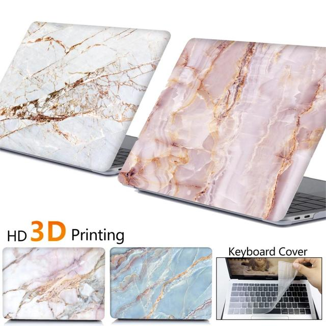 Marble Laptop Case for Macbook Air 13 A2179 A1932 Cover Pro 15 Retina 12 16 A2141 2020 Touch Bar For Macbook Pro 13 A2159 Case