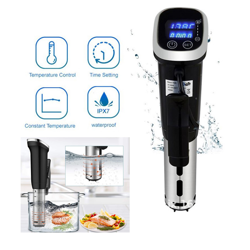 New 1200W IPX7 Waterproof Vacuum Sous Vide Cooker Immersion Circulator Accurate Cooking With LED Digital Display
