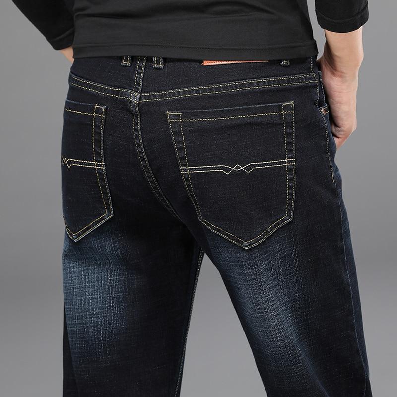 H647b6cdfeea7482d889350c9507fb9550 - 2020 New Design Jeans Mens Pants Cotton Deniem Classic Trousers Casual Stretch Slim High Quality Black Blue Multiple Styles