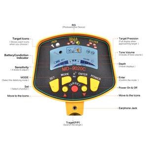 Image 3 - מקצועי מחתרת מתכת גלאי MD9020C מתכת גלאי רגישות גבוהה LCD תצוגת אוצר זהב האנטר Finder סורק