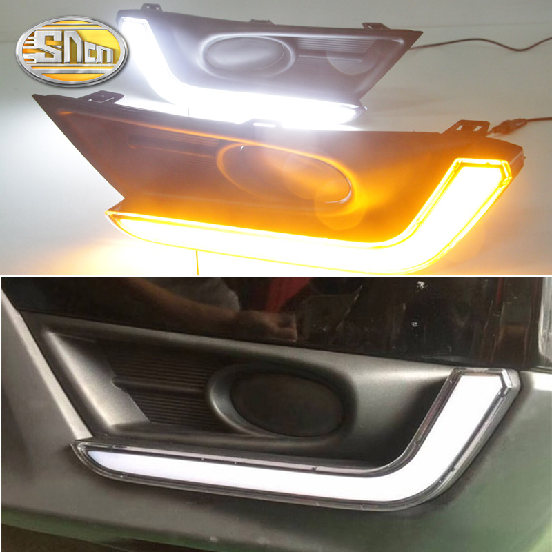 For <font><b>Honda</b></font> CR-V <font><b>CRV</b></font> 2017 <font><b>2018</b></font> Daytime Running Light <font><b>LED</b></font> DRL fog lamp Driving lights Yellow Turn Signal Lamp image