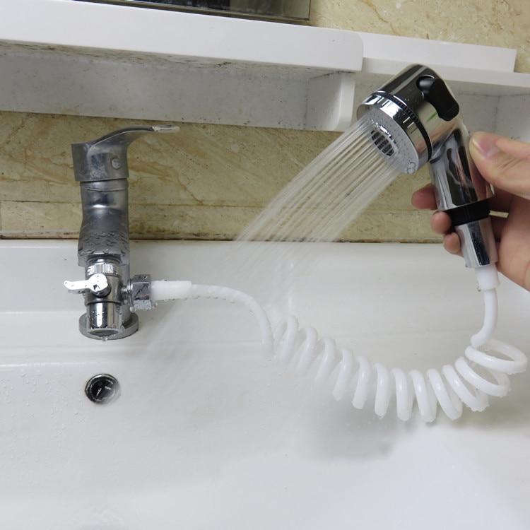 Home Faucet Shower Head Bathroom Spray Drains Strainer Hose Sink Washing Hair Wash Shower