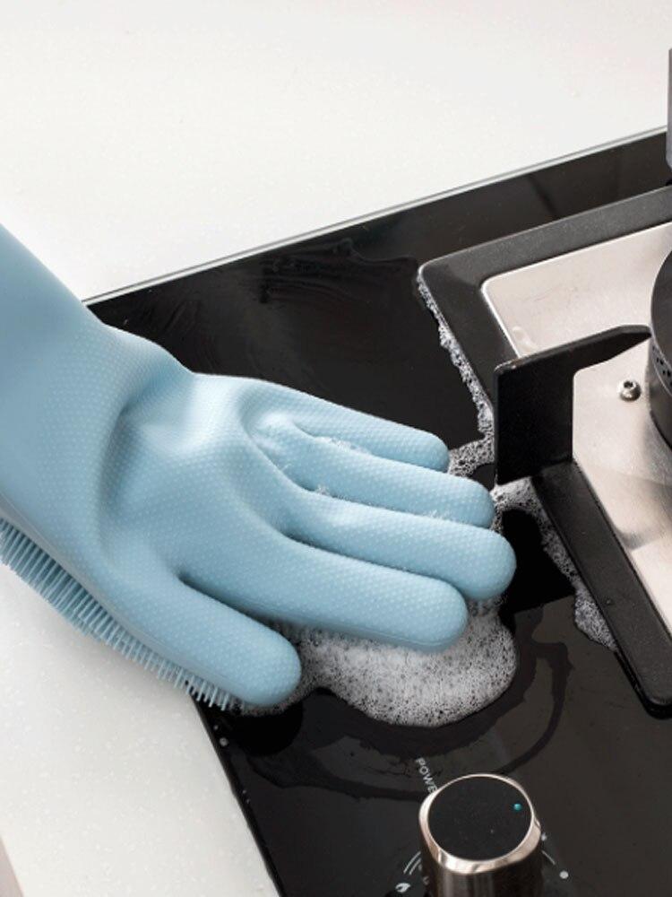 Xiaomi Scrubber Washing-Glove Kitchen-Tool Magic Household for Sponge Dish Silicone