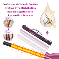 9mm Professional Curling Iron Ceramic Curling Wand Roller Beauty Styling Tools With LCD Display Hair Curlers Unisex Slim Tongs 5