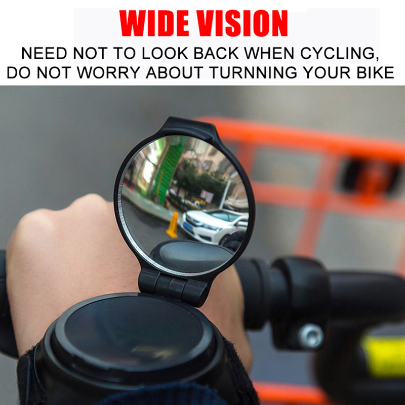 Wrist Bike Mirror Bicycle Rearview Mirror Cycling 360 Degree Rotate Motorcycle Mirror Handlebar Adjustable Bicycle Rear View in Bike Mirrors from Sports Entertainment