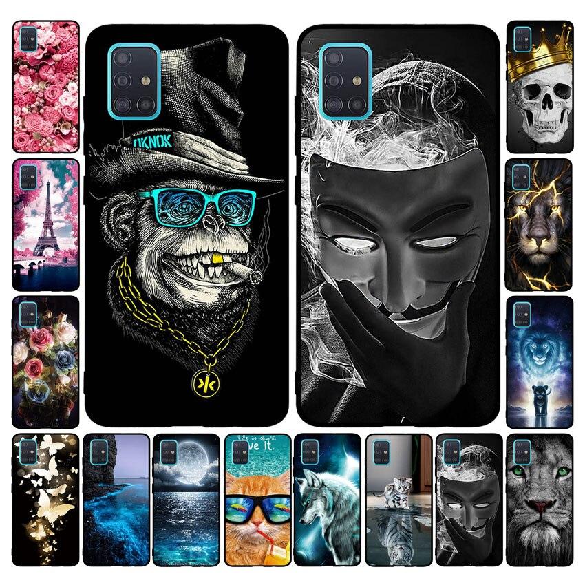 For Samsung A51 Case Galaxy A51 Cover Bumper Back Cover Soft Phone Case For Samsung Galaxy A51 SM-A515F A515F A515 Case Coque