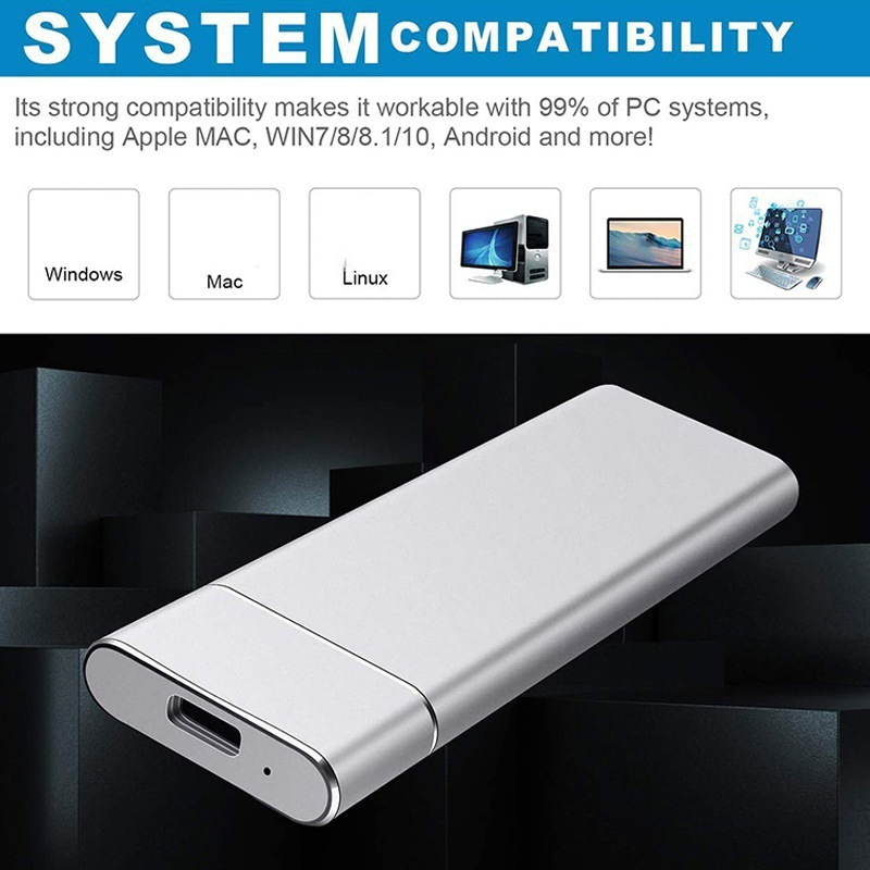 M.2 SSD Drive M2 1TB 2TB External Hard Disk Drive Portable Type C 3.1 USB SSD Solid State Drive for Laptop Desktop SSD Disk 5