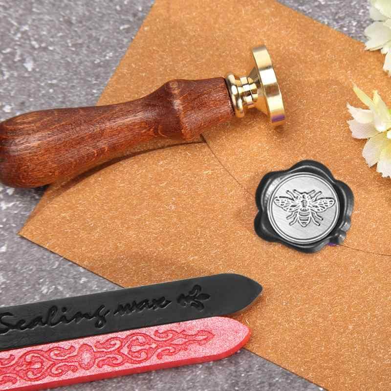 Retro FAI DA TE Antico di Tenuta Bastone di Cera Inviti Craft Vintage Timbri Sigillo di Cera D'api Bar per la Cerimonia Nuziale Ornamento Feste