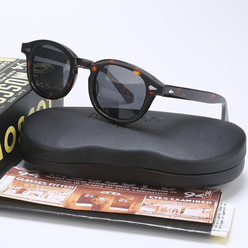 Moda johnny depp polarizado óculos de sol das mulheres dos homens com caso $ caixa de luxo marca designer óculos de sol para o sexo masculino feminino oculos qf505