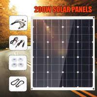 200W Usb 12 V/5 V Dc Mono Pannello Solare Monocristallino Flessibile Caricatore Solare per Auto Camper Barca batteria Caricatore Impermeabile 60X52 Centimetri