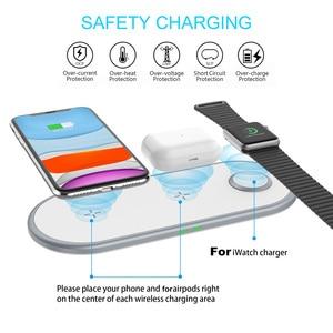 Image 5 - Беспроводное зарядное устройство DCAE Qi для iPhone XS XR X 8 11 Apple Watch 2 3 4 5 6 Airpods 10 Вт, быстрая зарядка для Samsung S20 S10 Note 20 10