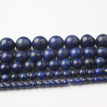 Linxiang Natural Blue Stone Beads DIY Fashion Accessory Hand