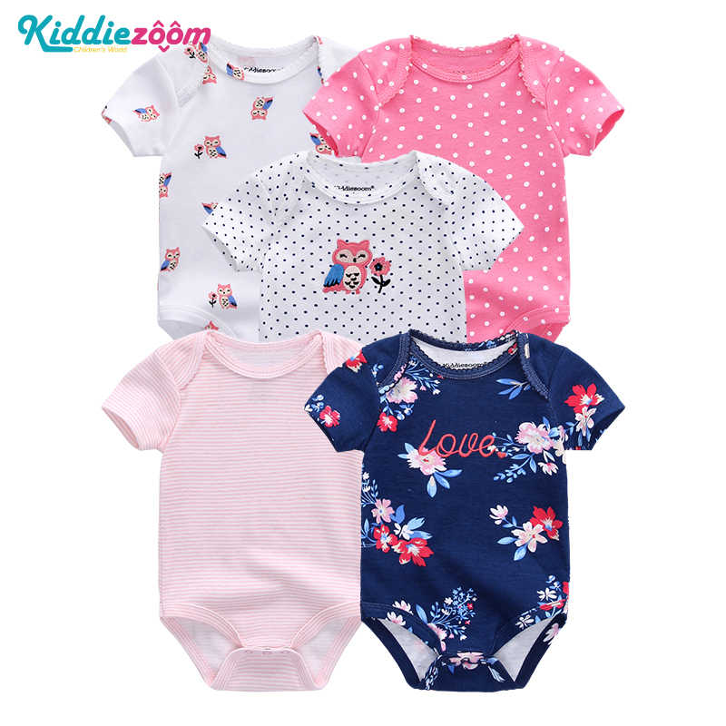 Распродажа; 5 шт./лот; комбинезоны для новорожденных; 100% хлопок; одежда для маленьких мальчиков и девочек; Модный комбинезон; Roupas de bebe; костюмы с героями мультфильмов