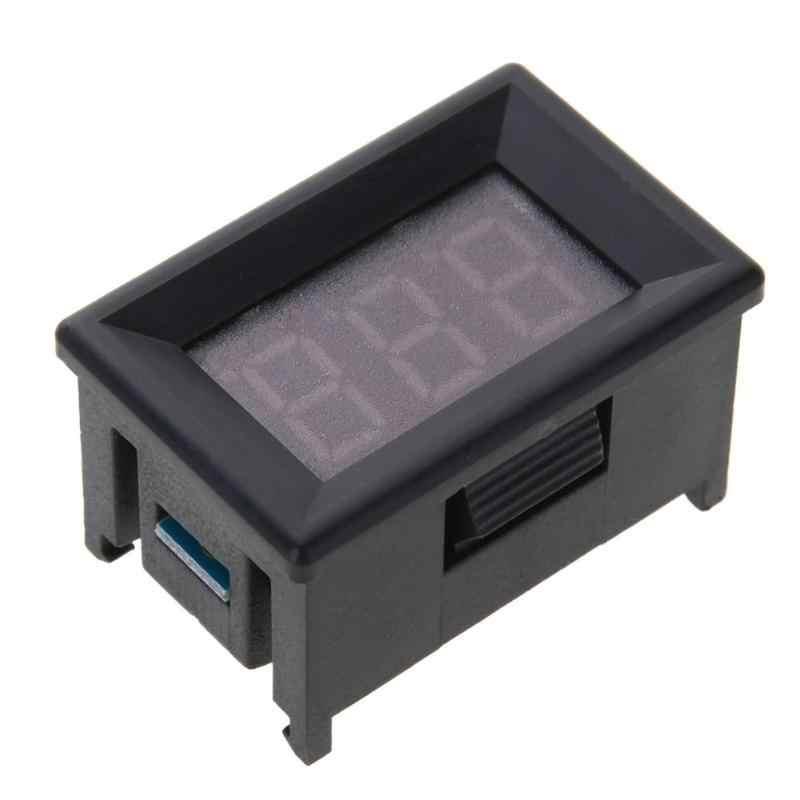 "Mini voltímetro Digital amperímetro DC 100V 10A Panel Amp voltios medidor de corriente probador 0,56 ""Pantalla LED azul dual."