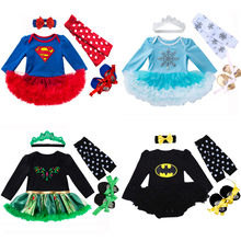 long sleeve baby girl romper newborn lace romper girl baby suit elsa anna costumes for babies and toddlers 4pcs/3pcs/2pcs/set
