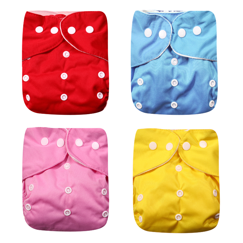 New 4pcs/set Washable Eco-Friendly Cloth Diaper Adjustable Nappy Reusable Cloth Diapers Fit 0-2 Years 3-15kg Baby Child