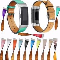 Di ricambio Fitbit Carica 3 Fasce Per Cinghie di Cuoio Della Fascia Intercambiabili Prodotti Smart Per Il Fitness Cinturini Per Orologi Con Acciaio Telaio Per Charge3