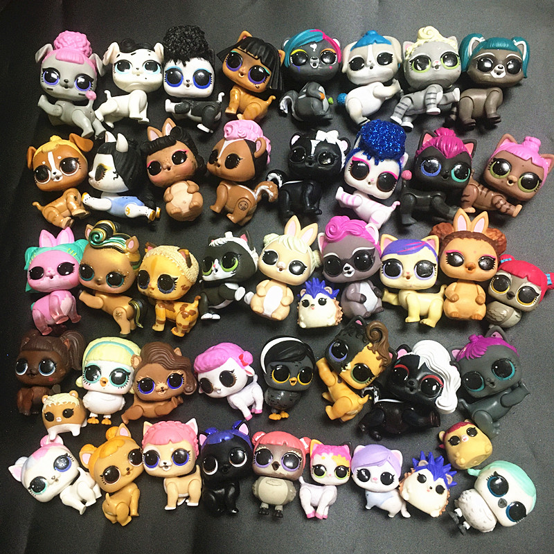1pcs Original LOLs Pet Puppy Dog 3-5cm Doll Plastic Toy Can Choose Figures Action DIY Toys Girls Kids Birthday Chrismas Gift