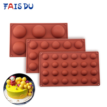 Ball Sphere Silicone Mold For Cake Pastry Baking Chocolate Candy Fondant Bakeware Round Shape Dessert Mould DIY Decorating cheap FAIS DU Moulds CE EU LFGB Cake Tools Eco-Friendly Stocked DU995 Chocolate Mould Truffles Mold Cake Decorating tools Candy gummy fondant molds