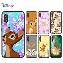 Disney Cartoon Animation Bambi for Samsung Galaxy A90 5G A80 A70S A60 A50S A30S A20E A20S M02 Soft TPU Silicone Black Phone Case