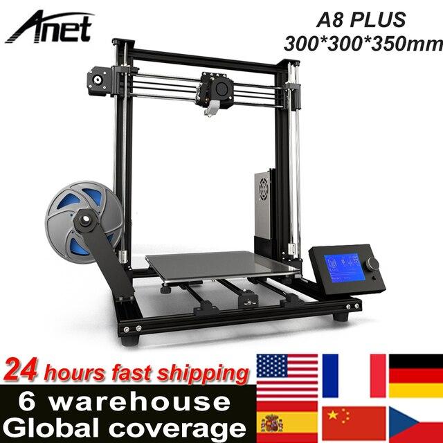 Anet A8 Plus ulepszony pulpit drukarki 3D i3 zestawy DIY samodzielnego montażu rozmiar wydruku 300*300*350mm Panel sterowania LCD
