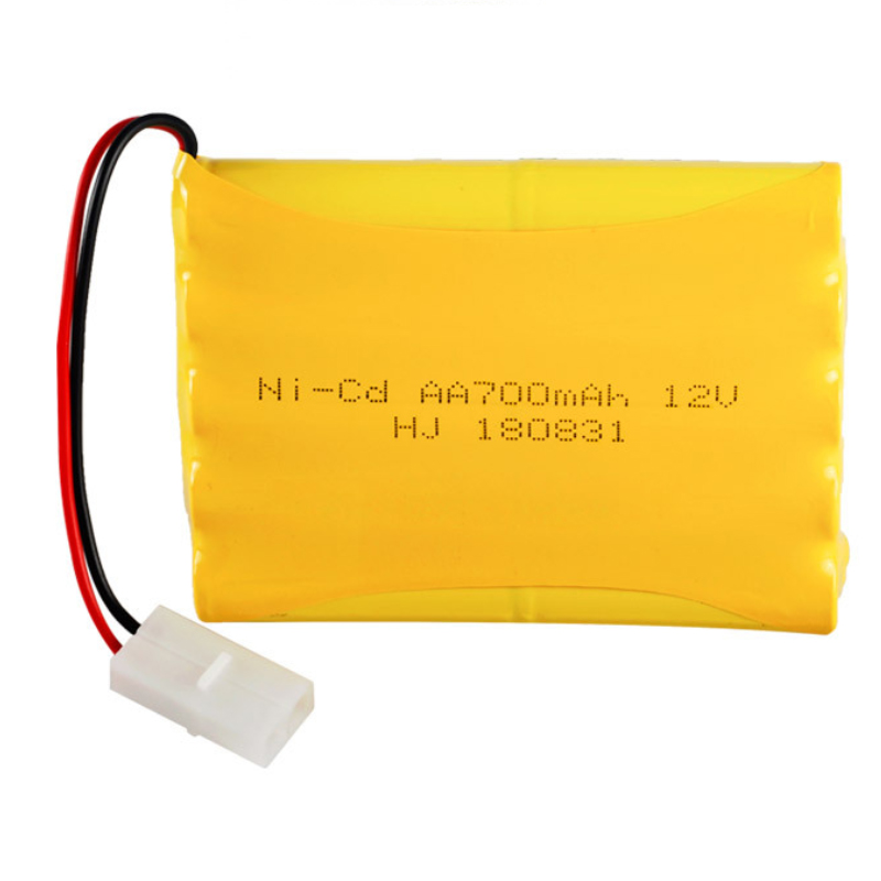<font><b>12V</b></font> <font><b>AA</b></font> 700mAh NICD rechargeable <font><b>battery</b></font> <font><b>pack</b></font> for RC toys with KET-2P connector image