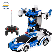 Transformer Car Robots Deformation Robot Remote Control Car with One Button Automatic Operation Realistic Engine Sounds
