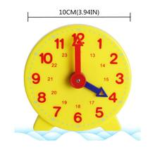 Montessori Student Learning Clock Time Teacher Gear Clock 4 Inch 12/24 Hour(China)