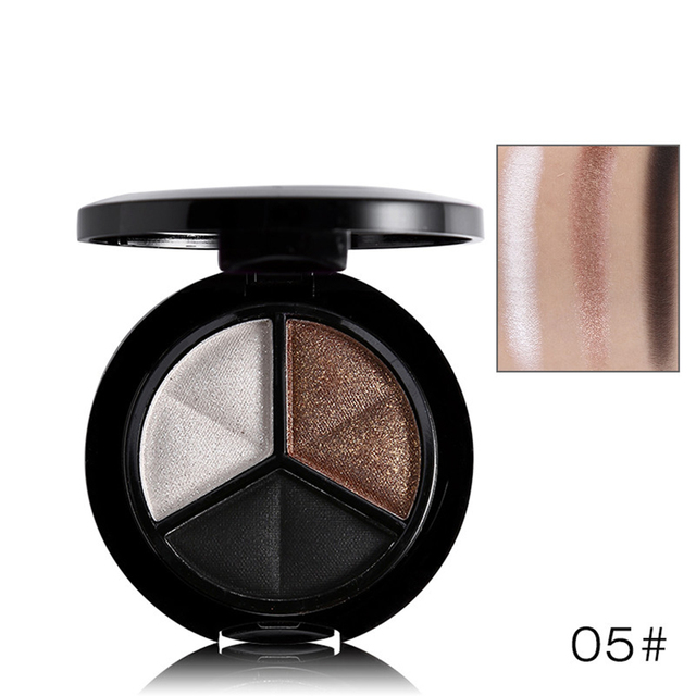 3 Colors Women Eye Shadow Palette Smokey Matte Shadow Palette Waterproof Glitter Eyeshadow Makeup Cosmetics Tools Eyeshadow 3