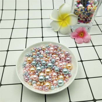 Hot 3/4/6/8/10mm 250pcs No Hole Mixed  Round ABS Imitation Pearl Acrylic Loose Beads DIY for Jewelry Making Accessories