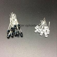 20 pares/pcs LED 940nm 3 40mm LEDs Diodos Diodo Emissor Receptor Infravermelho 940 nm IR Emissor Infravermelho emettitore Ricevitore