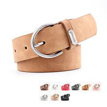 Las mujeres nuevo cinturón ancho de cuero de gamuza cintura cinturón femenino Casual damas cinturones con hebilla para mujer cinturones para vestidos lujos mujer