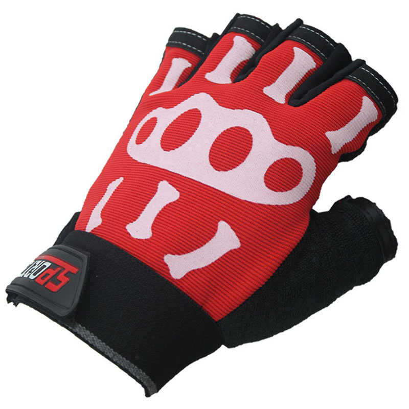 Summer sunscreen quick-drying half finger sports gloves, cool bones, cycling, non-slip gloves mountain bike gloves