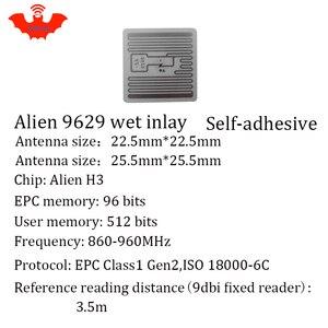 Image 5 - Etiqueta RFID adhesiva UHF Alien 9629 incrustación húmeda 915mhz 900 868mhz 860 960MHZ Higgs3 EPCC1G2 6C etiqueta adhesiva inteligente RFID pasiva