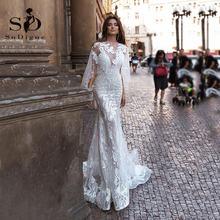 Sodigne сексуальное вечернее платье из шифона русалка свадебное