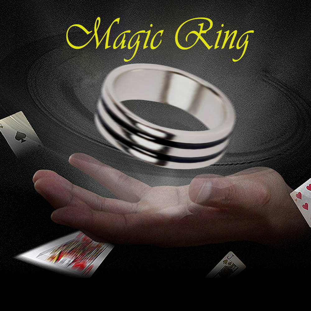Kids Adults Magic Suspension Ring Magic Levitation Ring Magic Floating Ring Trick Props Magician Stage Performance Supplies Toy