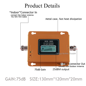Image 5 - 75dB Gain 4G Signaal Booster 1800Mhz Signaal Repeater Gsm 4G Dcs LTE1800 Mobiele Signaal Booster 4G cellphone Cellulaire Versterker 4G